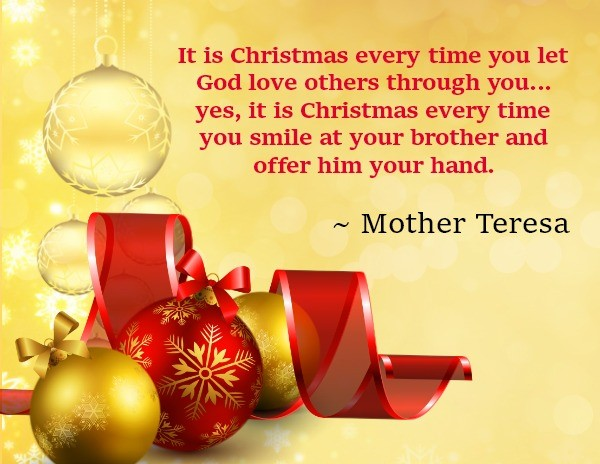 The arms of jesus for Christmas decoration quotes